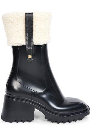 Chloé Women Rain Boots - Betty Shearling-Trim Rain Boots