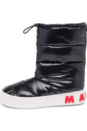 Marni Paw Quilted Nylon Puffer Boots