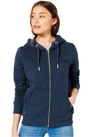 Superdry Women Hoodies - Vintage Logo Embroided Full Zip Sweatshirt S Vintage Navy Marl