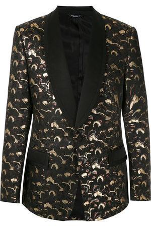 Dolce & Gabbana Men Blazers - Jacquard-effect single-breasted blazer