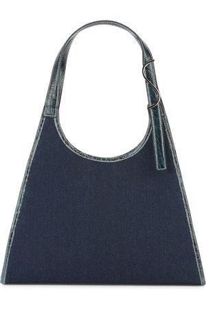 Staud Women Shoulder Bags - Rey dark blue denim shoulder bag