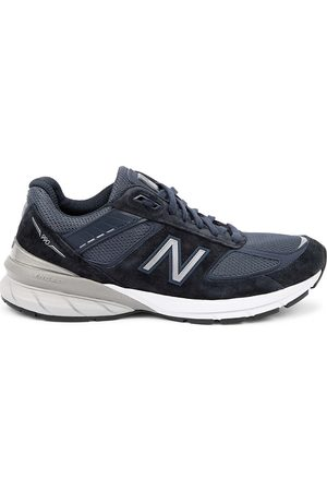 New Balance Made in US 990v4 navy panelled sneakers