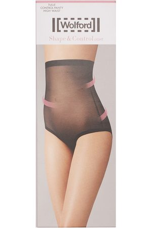 Wolford High Waist Sheer Tulle Control Briefs