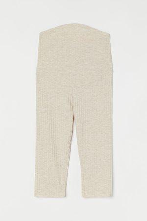 H&M Women Sweats - MAMA Ribbed Capri Leggings