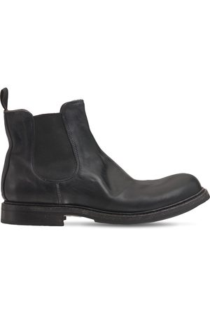 SHOTO Washed Leather Chelsea Boots