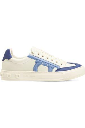 Salvatore Ferragamo 20mm Nicla Leather Sneakers