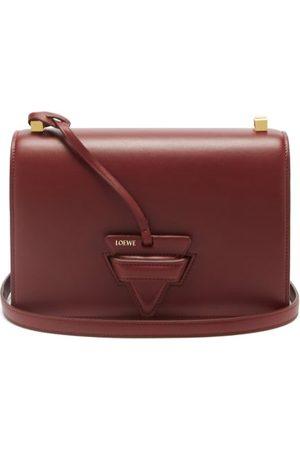 Loewe Women Purses - Barcelona Leather Shoulder Bag - Womens - Burgundy