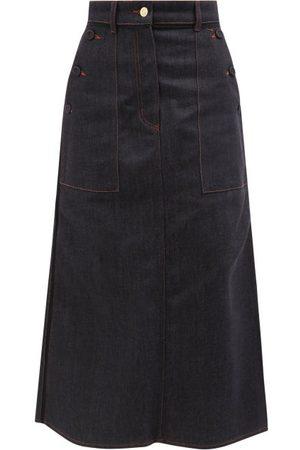 Erdem Ardith Denim Midi Skirt - Womens - Denim