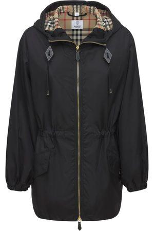 Burberry Women Parkas - Binham Nylon Hooded Parka Coat