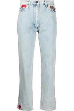 Natasha Zinko High-waisted patch jeans