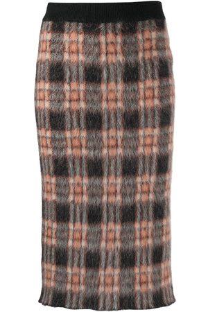 Marni Women Skirts - Checked virgin wool-blend felt skirt