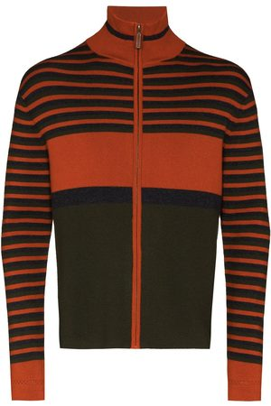 WALES BONNER Men Cardigans - George horizontal-stripe cardigan