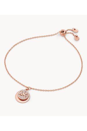 Womens Women Bracelets - Michael Kors Women's 14K -Plated Sterling Silver Pavé Engravable Slider Bracelet