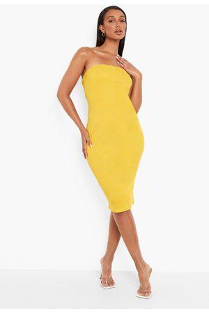 Boohoo Womens Recycled Rib Bandeau Midi Dress - - 4