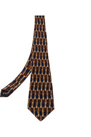 Lanvin Men Neckties - Vintage Geometric Printed Silk Traditional Tie