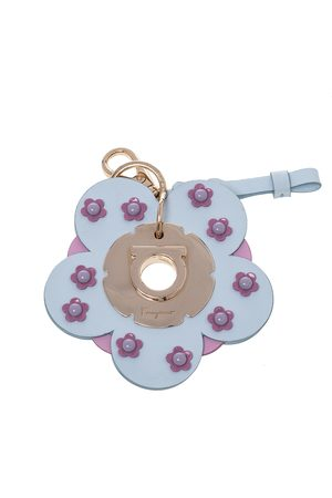 Salvatore Ferragamo Light /Pink Leather Flower Bag Charm