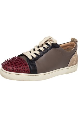 Christian Louboutin Leather Spiked Louis Junior Low Top Sneakers Size 41