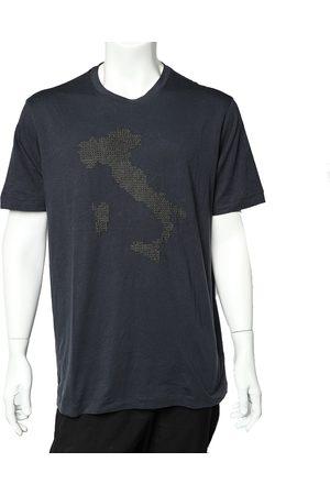 Armani Embroidered Cotton Crewneck T-Shirt 3XL