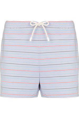 Vilebrequin Men Swim Shorts - Maurice striped swim shorts - Neutrals