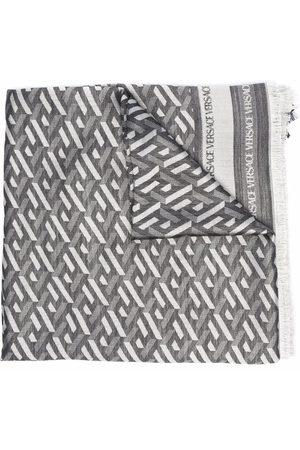 VERSACE Scarves - Geometric-pattern silk-blend scarf