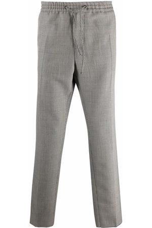 VERSACE Men Straight Leg Pants - Houndstooth straight-leg trousers