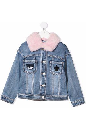 Chiara Ferragni Girls Denim Jackets - Flirting denim jacket