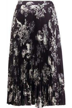 Etro Women Printed Skirts - Floral-print pleated midi skirt