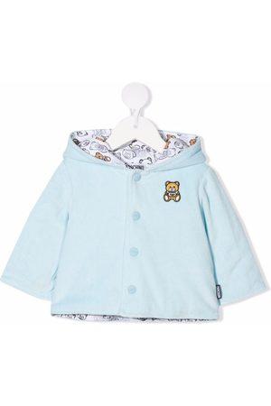 Moschino Fleece Jackets - Teddy bear-motif hooded jacket