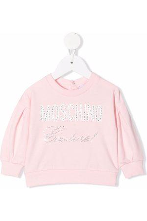Moschino Hoodies - Stud embellished logo sweatshirt