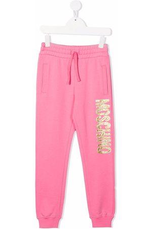 Moschino Boys Sweatpants - Logo-print cotton track trousers
