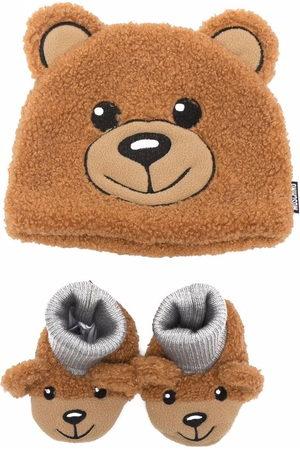 Moschino Hats - Teddy-bear hat slipper set