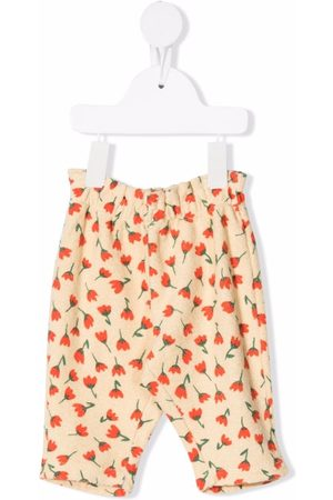 Bobo Choses Chinos - Floral print trousers - Neutrals