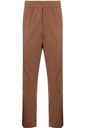 Salvatore Ferragamo Men Straight Leg Pants - Popeline elastic waist trousers