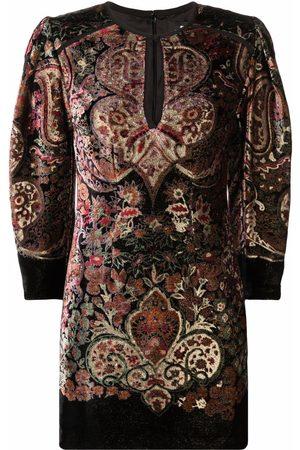 Etro Women Party Dresses - Paisley-print velour mini dress