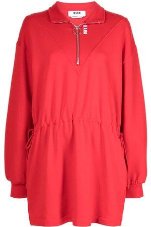 Msgm Women Casual Dresses - Half zip jersey mini dress