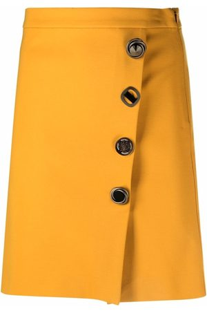 Pinko Off-centre button-up miniskirt