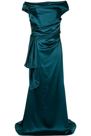 TALBOT RUNHOF Women Strapless Dresses - Off-shoulder satin gown