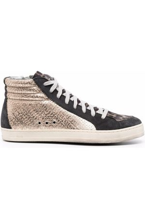 P448 Panelled high-top leather sneakers