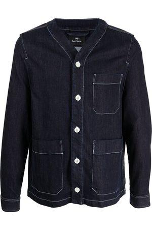 Paul Smith Men Denim Jackets - V-neck denim jacket