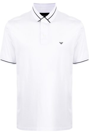 Emporio Armani Men Polo Shirts - Stripe-trimmed polo shirt