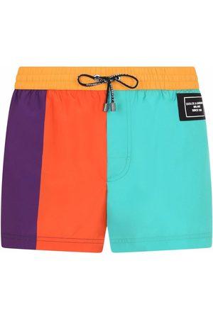 Dolce & Gabbana Men Swim Shorts - Colour-block swim shorts