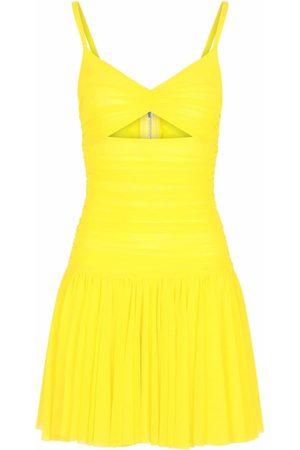Dolce & Gabbana Women Party Dresses - Gathered semi-sheer mini dress