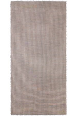 Burberry Frayed check scarf - Neutrals