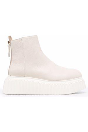AGL ATTILIO GIUSTI LEOMBRUNI Women Heeled Boots - Sandy platform boots - Neutrals