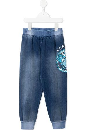VERSACE Boys Sports Pants - Logo tracksuit bottoms