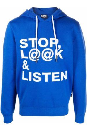 Diesel Men Hoodies - Slogan-print pullover hoodie