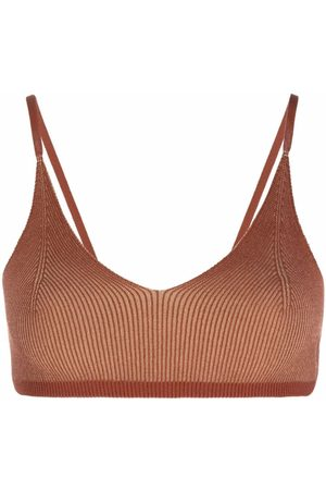 Jacquemus Women Bralettes - Knitted triangle bra