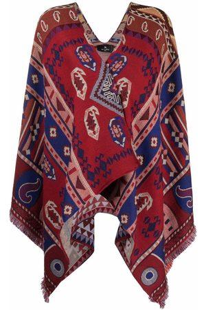Etro Women Ponchos & Capes - Paisley-pattern jacquard cape