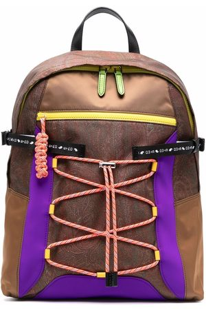 Etro Men Rucksacks - Paisley-print lace backpack