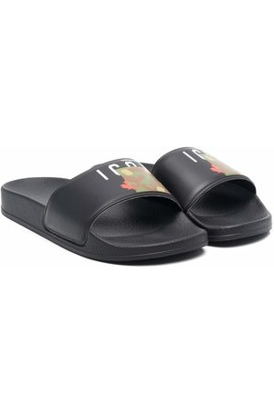 Dsquared2 Slippers - Logo-print sliders - T8013
